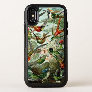 エルンスト・ヘッケル著ハチドリ、ヴィンテージの鳥の木 オッターボックスシンメトリー iPhone X ケース