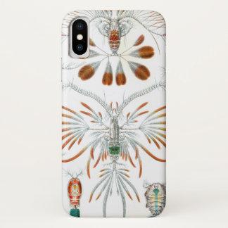 エルンスト・ヘッケル著ヴィンテージのCopepodaの海動物 iPhone X ケース