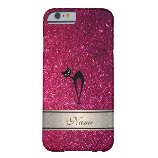 エレガントでかわいくガーリーで粋できらびやかな猫のモノグラム BARELY THERE iPhone 6 ケース