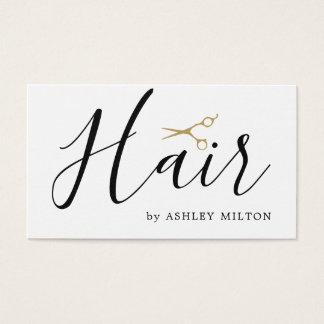 エレガントできれいな白は美容師を切ります 名刺