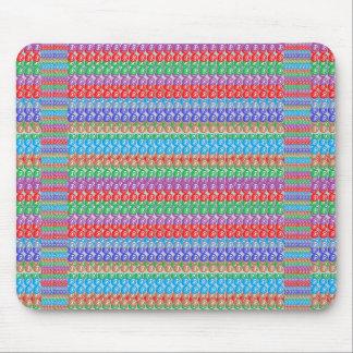 エレガントでカラフルで写実的な美術の抽象芸術パターン マウスパッド