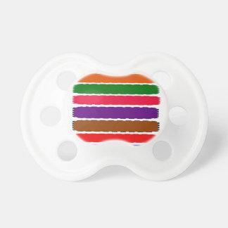 エレガントでカラフルな虹はパターンをスライスします おしゃぶり