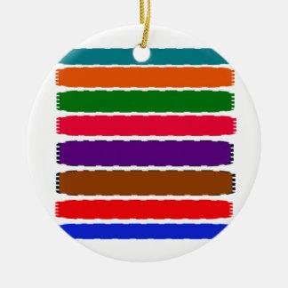 エレガントでカラフルな虹はパターンをスライスします セラミックオーナメント