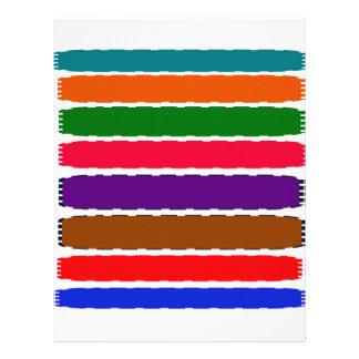 エレガントでカラフルな虹はパターンをスライスします レターヘッド