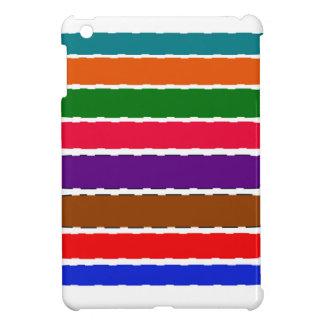 エレガントでカラフルな虹はパターンをスライスします iPad MINI カバー
