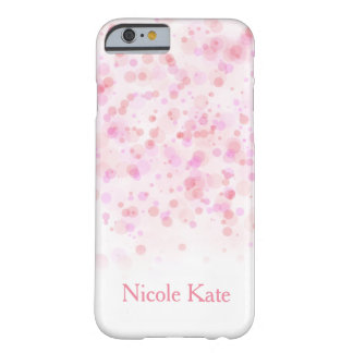 エレガントでガーリーでカラフルな紙吹雪インク点 BARELY THERE iPhone 6 ケース