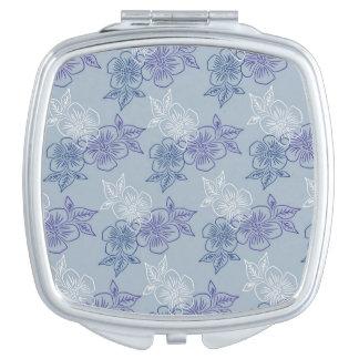 エレガントでガーリーで白い紫色の青い花パターン