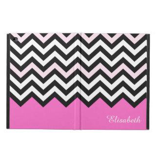 エレガントでガーリーな上品-スタイリッシュな淡いピンクのシェブロン POWIS iPad AIR 2 ケース
