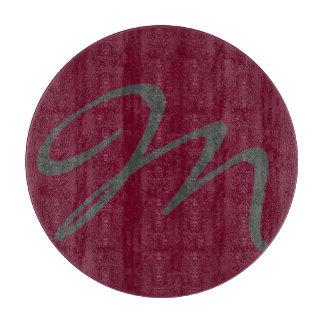 エレガントでシンプルでモダンでシックで粋なモノグラムの赤 カッティングボード