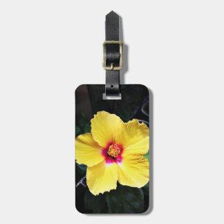 エレガントでシンプルな花の荷物のラベル ネームタグ