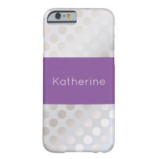 エレガントでスタイリッシュで模造のな銀製の水玉模様パターン BARELY THERE iPhone 6 ケース