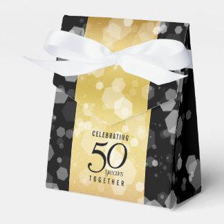 エレガントでストライプのな第50金結婚記念日 フェイバーボックス