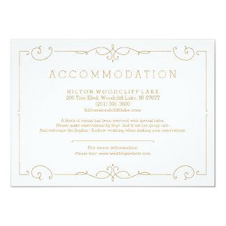 エレガントでモダンでクラシックな結婚式の調節 カード