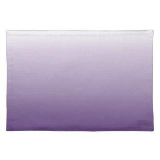 エレガントでモダンでシックでガーリーで抽象的な紫色のグラデーション ランチョンマット