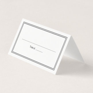エレガントで上品でシンプルでスタイリッシュな結婚式 プレイスカード