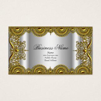 エレガントで上品で華美な銀製の金ゴールドのレースのプロフィール 名刺