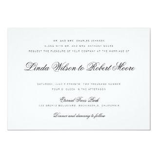 エレガントで上品な原稿のヴィンテージの結婚式招待状 カード