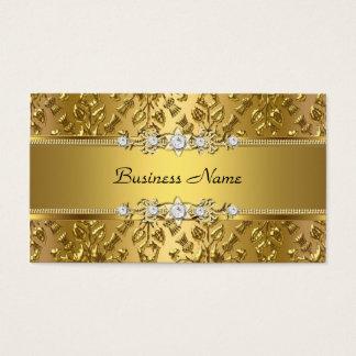 エレガントで上品な金ゴールドのダマスク織のエンボスのイメージ 名刺