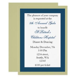エレガントで企業のなパーティの招待状 カード