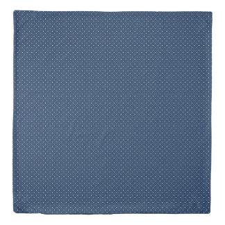 エレガントで小さい濃紺の白い水玉模様パターン 掛け布団カバー