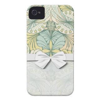 エレガントで抽象的なアールヌーボーの渦巻のデザイン Case-Mate iPhone 4 ケース