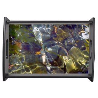 エレガントで抽象的なカラフルのステンドグラス トレー