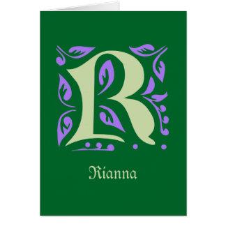 エレガントで旧式な中世手紙R カード