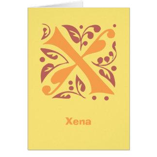 エレガントで旧式な中世手紙X カード