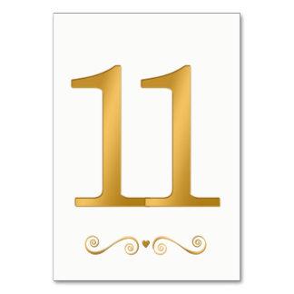 エレガントで明るい金ゴールドの模造のな金属第11 カード