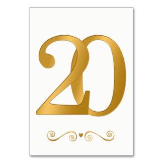 エレガントで明るい金ゴールドの模造のな金属第20 カード