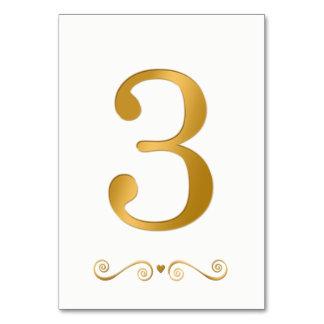 エレガントで明るい金ゴールドの模造のな金属第3 カード