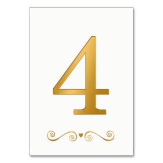 エレガントで明るい金ゴールドの模造のな金属第4 カード