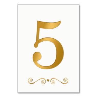 エレガントで明るい金ゴールドの模造のな金属第5 カード
