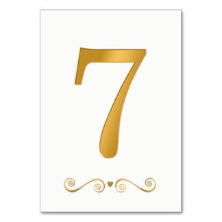 エレガントで明るい金ゴールドの模造のな金属第7 カード