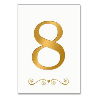 エレガントで明るい金ゴールドの模造のな金属第8 カード
