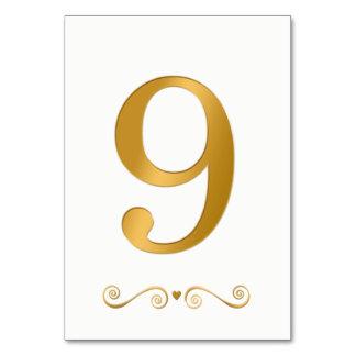 エレガントで明るい金ゴールドの模造のな金属第9 カード