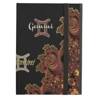 エレガントで暗いフラクタルの(占星術の)十二宮図の印のジェミニ箱 iPad AIRケース