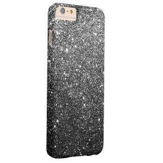 エレガントで模造ので黒いグリッターの贅沢 BARELY THERE iPhone 6 PLUS ケース