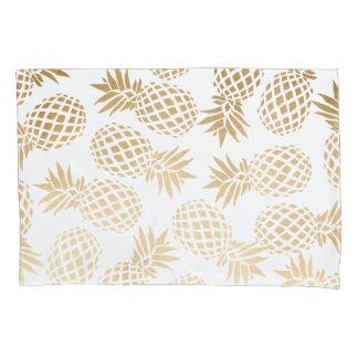 エレガントで模造のな金ゴールドの熱帯パイナップルパターン 枕カバー