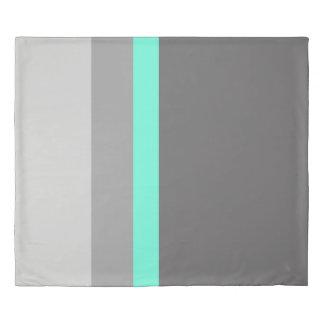 エレガントで澄んで真新しい灰色のストライブ柄 掛け布団カバー