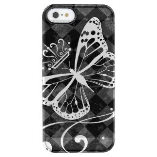 エレガントで王室ので白い蝶 クリア iPhone SE/5/5sケース