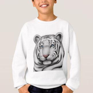 エレガントで白いトラはスエットシャツをからかいます スウェットシャツ