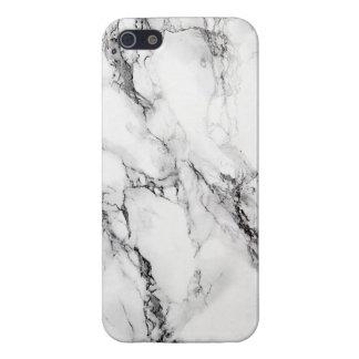 エレガントで白い大理石の石 iPhone SE/5/5sケース