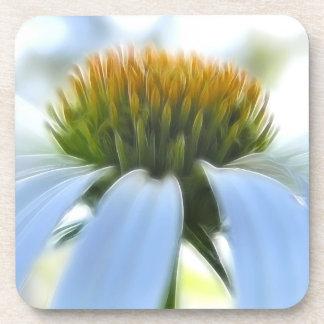 エレガントで白いConeflower コースター