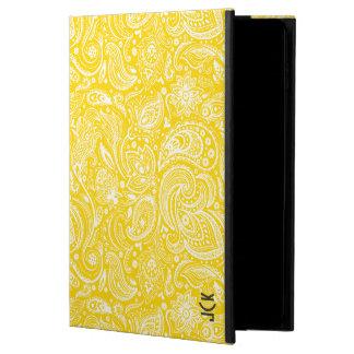 エレガントで白く及び黄色のヴィンテージの花柄のペイズリー POWIS iPad AIR 2 ケース