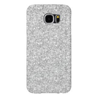 エレガントで白く模造のなグリッター及びSparkless Samsung Galaxy S6 ケース