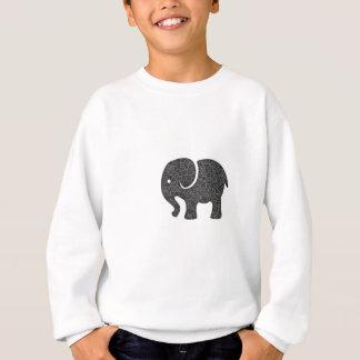 エレガントで粋でガーリーでかわいい象 スウェットシャツ