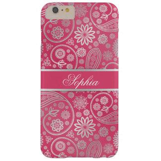 エレガントで粋なペーズリー花パターン絵 BARELY THERE iPhone 6 PLUS ケース