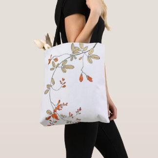 エレガントで純粋なハートの春の花 トートバッグ