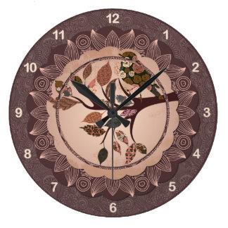 エレガントで装飾的な鳥の柱時計 ラージ壁時計